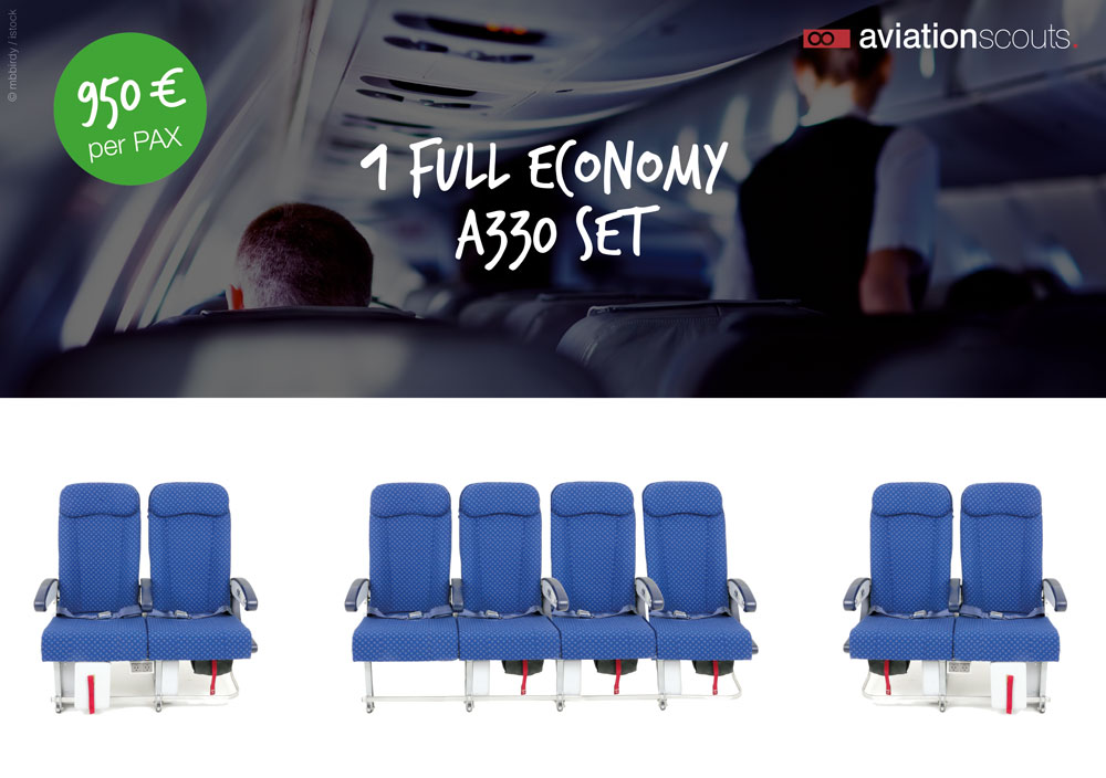 Full Economy A330 Shipset