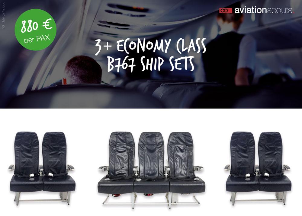 Full Economy B767 Shipset