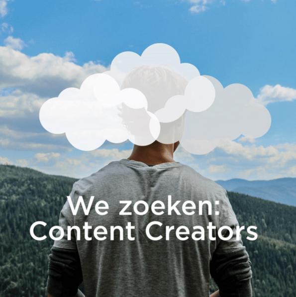 we zoeken content creators