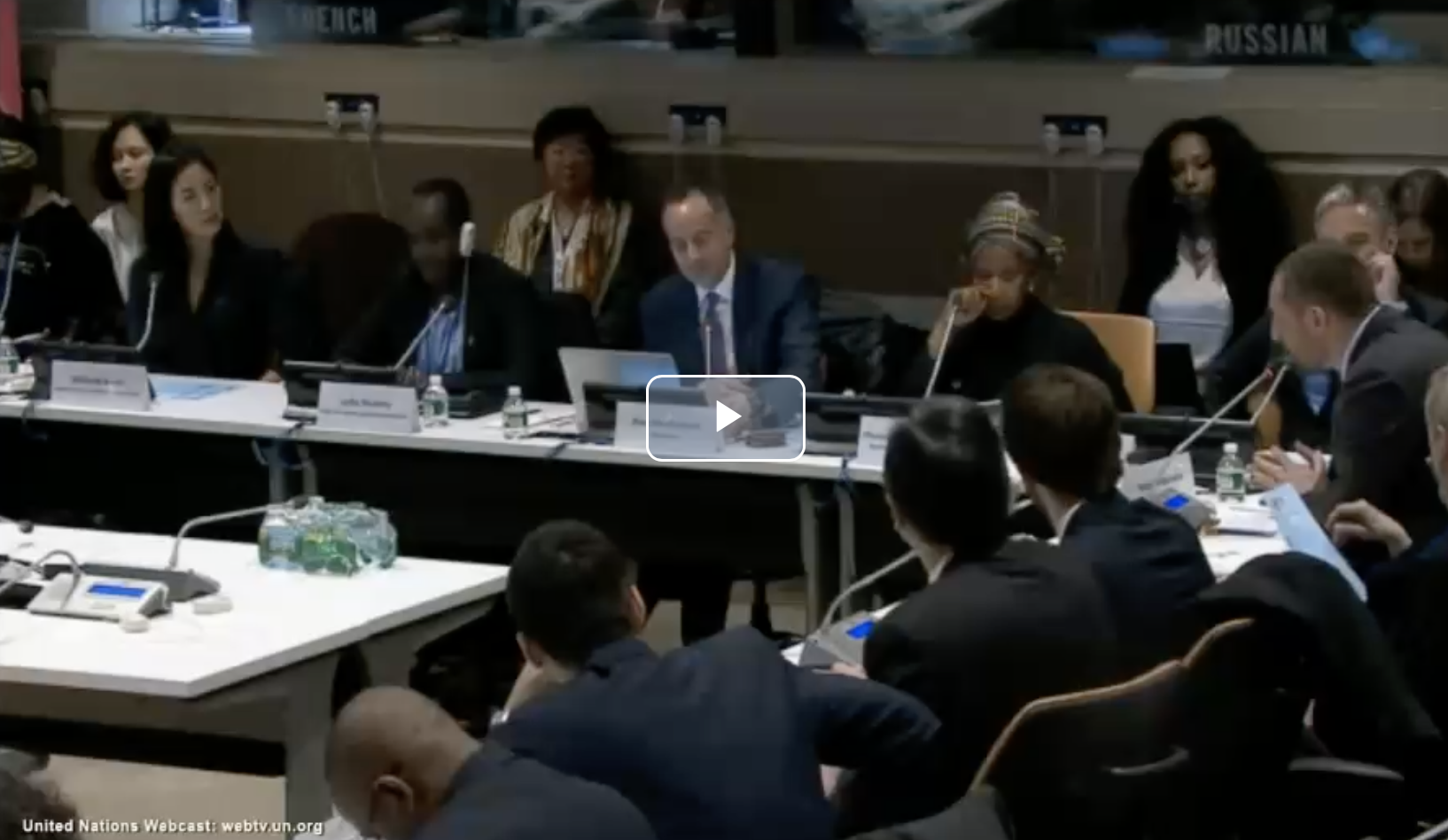 Veteran Georgian rugby player's speech at UN session on combating violence against women