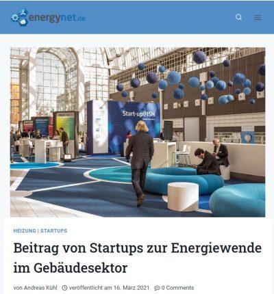Beitrag im energy.net-Blog über Start-ups zur Energiewende.